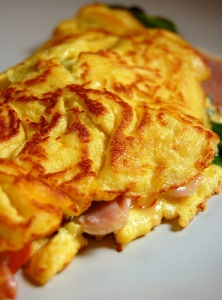 chicken-and-ham-omelette