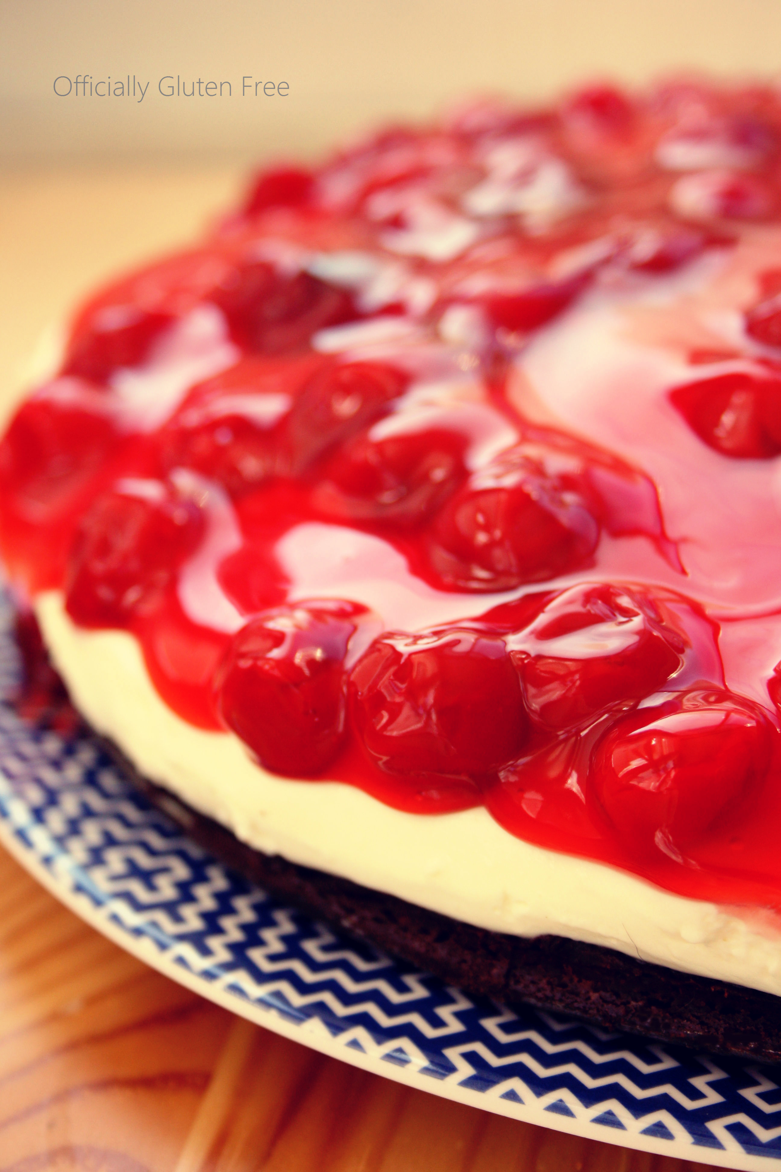 This light and creamy, Gluten Free Cherry Cheesecake is made with a ...
